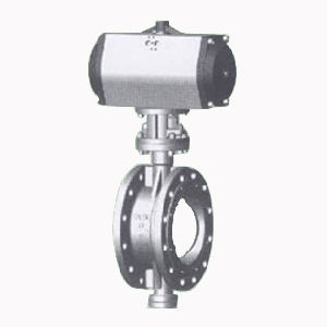 Pneumatic Butterfly Valve with Metal Seal (wafer type)