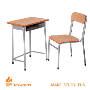 Wooden Single Desk and Chair/Primary School Furniture pictures & photos