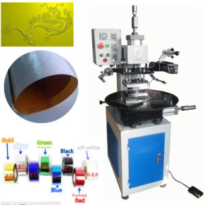 Tam-90-5 Pneumatic Rotary Table Top Hot Foil Stamping Machine pictures & photos