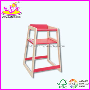 Wooden Baby Pink Feeding Chair, High Chair, Wooden Safety Baby Sitting High Chair, Wooden Toy Baby Feeding Chair Wj278362 pictures & photos