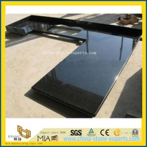Natural Black Galaxy Laminate Granite Stone Countertops for Kitchen/Bathroom pictures & photos