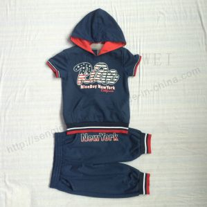 Fashion Boy Suit Clothes in Short Sleeve for Children Wear in Apparel Sq-6233 pictures & photos