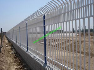 Powder Coating Garrison Fence /Railway Fence/Iron Fence (HX-P-001) pictures & photos