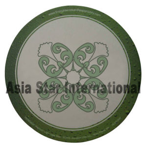 White with Green Printing Round Cardboard Coaster (CB03) pictures & photos