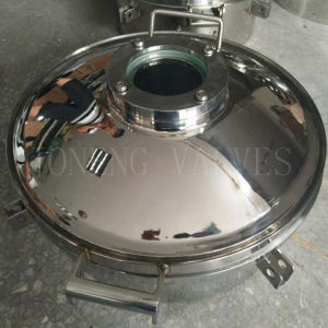 Stainless Steel Sanitary Round Manway with Sight Glass pictures & photos