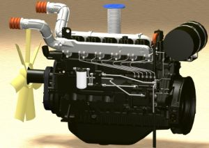 German Technology, Water Cooled Low Fuel Consumption Diesel Engine300-400kw pictures & photos
