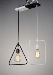 Black and White Duet 2 Bulbs Pendant Lighting Lamp (HL-BW-0603-1)