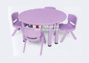 High Quality 4-Seaters Kids Plastic Round Table and Chair (SF-17K-1) pictures & photos