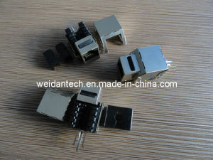 90 Degree Cat5e FTP Keystone Jack (WD6B-003) pictures & photos