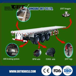 Complete of Spare Parts of 2 Axles Container Flat Bed Semi Trailer pictures & photos