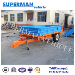 3t Agriculture Cargo Dump Trailer/Drawbar Trailer/Rear Tipping Trailer pictures & photos