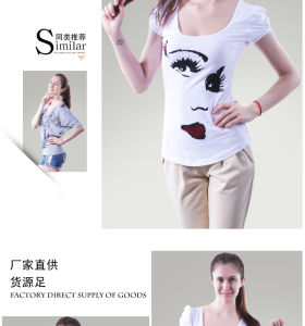 2016 Women′s Fashion T Shirt with Printing pictures & photos