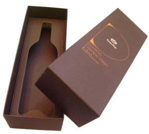 Elegant Foldable Paper Wine Box (YY-B0310) pictures & photos