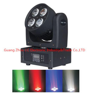 Newest 4*10W RGBW 4in1 LED Moving Head Wash Light pictures & photos