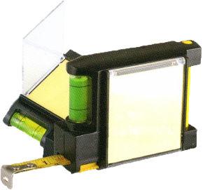 Black Plastic Case Tape Measure with Double Bubbles (WAB01015)