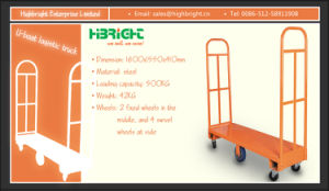Warehouse Trolleyu Boat Logistic Cart pictures & photos
