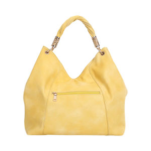 Bright Yellow Fashion Hobo Bag with Zip Decoration for Ladies (MBNO042011) pictures & photos