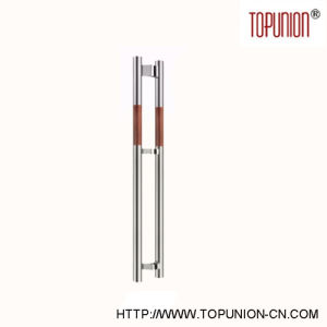 Modern Design Stainless Steel Wooden Pull Handle (TU-233) pictures & photos