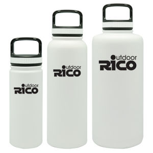 Durable Stainless Steel Vacuum Sports Bottle White 18oz pictures & photos
