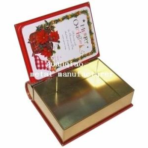 Book Shape Metal Tinbox, Printable Metal Gift Box (D-113)