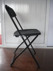 Black-Color Plastic Folding Chair (KLA-01)