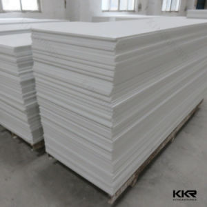 Building Material Snow White Acrylic Solid Surface 12mm pictures & photos