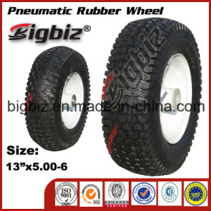 Good Quality for Trolley 13X5.00-6 Tubeless Rubber Wheels pictures & photos