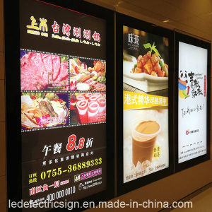 Restaurant LED Menu Board Advertising for Light Box Display pictures & photos