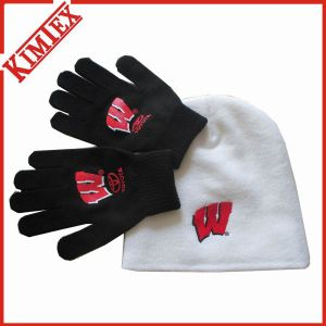 Knitted Warm Set of Hat and Glove pictures & photos