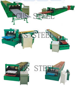 Roofing Sheet Tile Corrugating Iron Sheet Roll Forming Making Machine pictures & photos