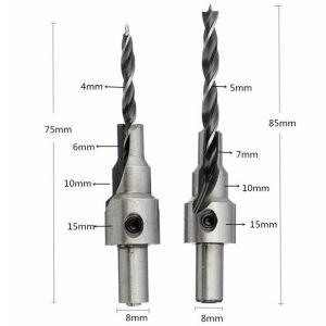 White and Black Finish Ajudstable Wood Countersink Drill (GMA0011) pictures & photos