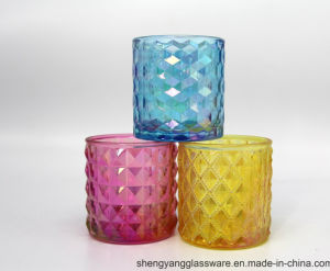 Hot Sell Colorful Ion Plating Candle Container for Home Decoration pictures & photos