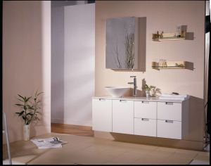 Wall-Mounted Bathroom Vanity Cabinet with Lacquer Finish