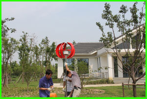 300W Europe Hot Selling Vertical Axis Wind Turbine (SHJ-NEV300R) pictures & photos