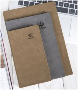 Leather High-Queality Business Notebook, PU Notepad Customied Logo