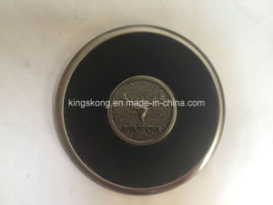 Metal with Leather Cover Tea Cup Coaster Metal Cup Mat pictures & photos