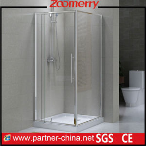 "Frame Pivot Square 3/8"" 10mm Thick Tempered Glass Shower Enclosure (CF12131b) pictures & photos"