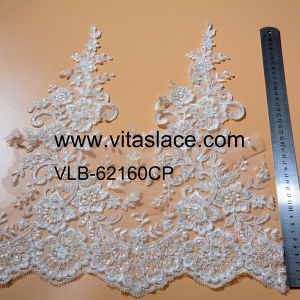 Beaded Rayon Lace Trim for Lady Gown Vlb-62160cp pictures & photos