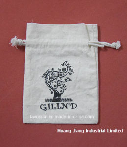 100% Environmental Cotton Drawstring Gift Bag with Logo pictures & photos