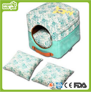 High Quality Floral Pattern Portable Square Pet Dog House&Bed pictures & photos