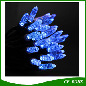 Blue Icicle Light 50 LED Solar String Light for Festival Christmas Wedding pictures & photos