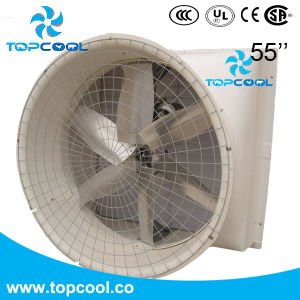 Smooth FRP 55inch Exhaust Fan with Guard and PVC Shutter pictures & photos