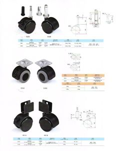 Furniture Fitting Socket with Brake Caster pictures & photos
