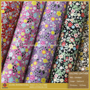 Fashionable PU Leather Flower Design (G009) pictures & photos