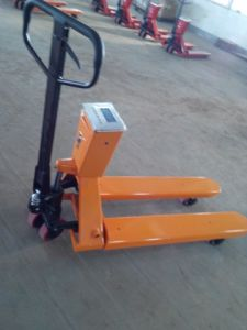 Niuli Weight Scale Hand Pallet Truck pictures & photos