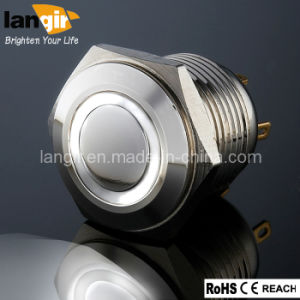 Momentary LED Push Button Switch (16mm, 19mm, 22mm, 25mm, 30mm) pictures & photos