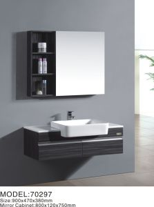 Modern High Glossy Solid Wood Bathroom Vanity MDF Cabinets pictures & photos