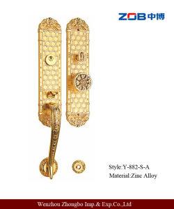 Double Short Panel Villa Door Lock with Zinc Alloy (Y-882-S-A)