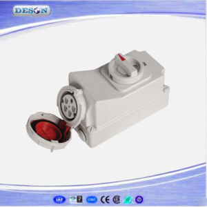 IP67 400V 5pin 125A Electrical Socket with Swith and Mechanical Interlock pictures & photos