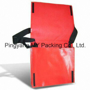 OEM Order Adjustable Strap PP Laminated Non Woven Promotional Shoulder Bag pictures & photos
